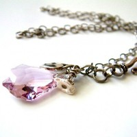Amethyst Crystal Necklace | RoxAndThings - Jewelry on ArtFire