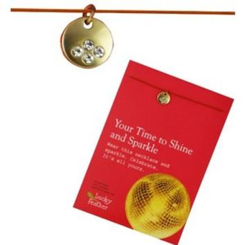 """""""Kindness & Compassion"""" Lotus Charm Linen Cord Necklace with Inspirational Message Card"""