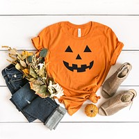 Pumpkin Face | Short Sleeve Graphic Tee