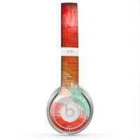 The Faded Neon Painted Hearts Skin for the Beats by Dre Solo 2 Headphones