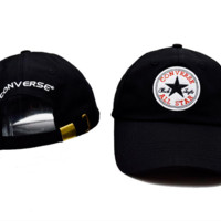 White Coverse Star Embroidered Cotton Baseball Cap