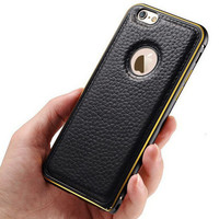 Mens Womens Leather iPhone 7 5S 6 6S Plus Case Superior Quality Cover Gift