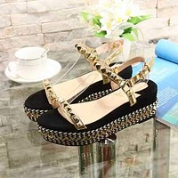 Christian Louboutin CL Pyraclou 6cm Wedges Style #5