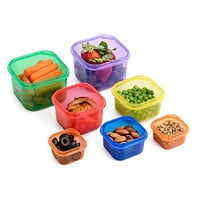 Meal Prep Haven 7 Piece Multi-Colored Portion Control Container Kit with Guide, Leak Proof, Comparable to 21 Day Fix