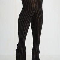 Refined Lines Tights Size OS by ModCloth