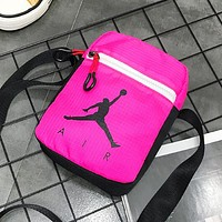 NIKE Jordan Fashion New People Letter Print Shopping Leisure Women Men Shoulder Bag Rose Red