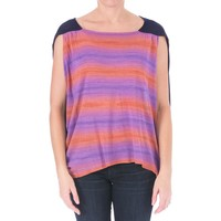 Elizabeth and James Womens Space Sky Knit Hi-Low Pullover Top