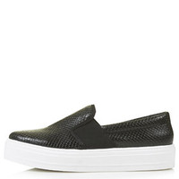TEXAS Flatform Skater Shoes - Black