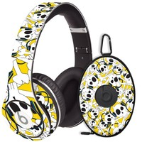 Skull Prince with Beats on Yellow Decal Skin for Beats Studio Headphones & Carrying Case by Dr. Dre
