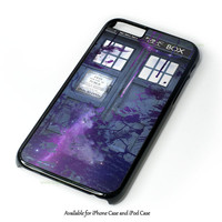 Dr Who Tardis Police Box Galaxy Nebula Design for iPhone 4 4S 5 5S 5C 6 6 Plus, and iPod Touch 4 5 Case