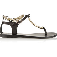 Ancient Greek Sandals - Chrysso beaded leather sandals