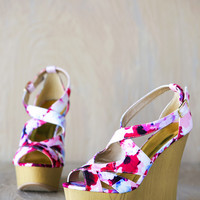 Kendall Floral Wedge