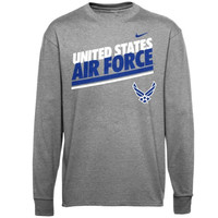 Air Force Falcons Nike Military Classic Long Sleeve T-Shirt - Anthracite