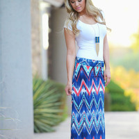Keeping Up With The Rush Maxi Skirt - Navy