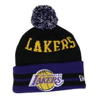 Los Angeles Lakers NBA Hardwood Classics Wide Point Pom Knit