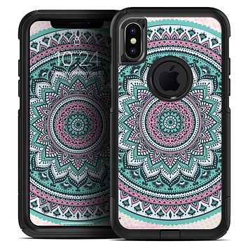 Green and Pink Circle Mandala v9 - Skin Kit for the iPhone OtterBox Cases