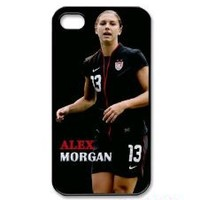 Alex Morgan, American Soccer Player Iphone 4 4s Case Cover ,Apple Plastic Shell Hard Case Cover Protector Gift Idea diycellphone Store