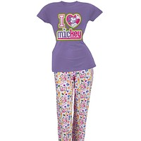 Mickey Mouse - Heart Mickey Two Piece Pajama Set
