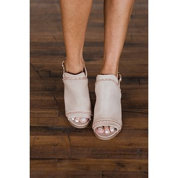 Qupid Brammer Heels- Blush