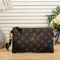 Louis Vuitton Woman Men Fashion Leather Tote Satchel Clutch Bag