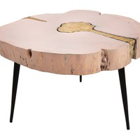 Timber Pink and Brass Coffee Table
