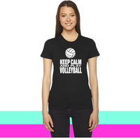 Keep Calm and Play Volleyball women T-shirt