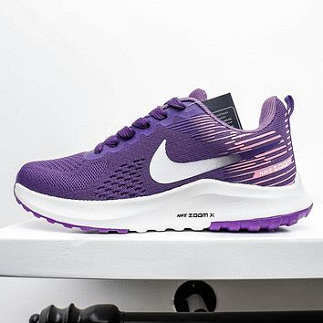 NIKE ZOOM WINFLO 6 New fashion hook print running leisure mesh shoes Purple