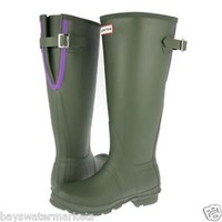 HUNTER ORIGINAL TALL SLIM ZIP RED WELLINGTON BOOTS US Sizes 6 - 10 Welly Red