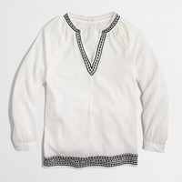 Factory embroidered tunic top : Women   J.Crew Factory