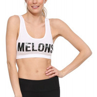 White Melons Sports Bra