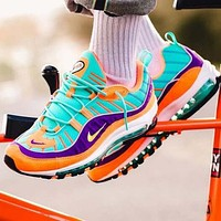 Nike Air Max 98 Fashionable Men Casual Air Cushion Sport Running Shoes Sneakers
