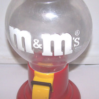 Vintage M&M's Chocolate, Candy Dispenser,1991 Mars Incorporated, Sweet Treat, Vintage, Retro, Collectible
