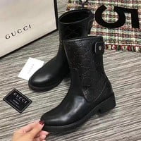 Guccl Women Fashion Casual Leather Boots Shoes