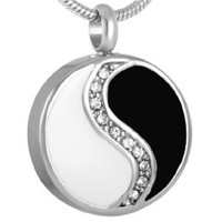 Ying Yang Cremation Pendant Necklace NEW!