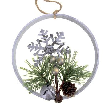 Metal Snowflake Wall Hanging Christmas Holiday Decoration, 6-1/4-Inch