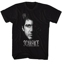 Scarface 1980's Gangster Crime Movie Al Pacino Tony Montana Face Men's Fashion T-shirt