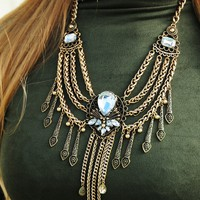 Stroll On Broadway St. Necklace: Antique Gold
