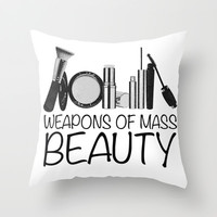 Weapons of Mass Beauty Throw Pillow by Rui Faria | Society6