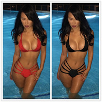 Fashion Women Sexy Halter Bikini Bandage Swim Bathing suit Swimwear SML T209 = 5617111809
