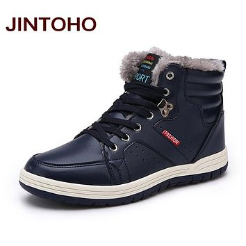 Winter Men Fashion Leather Boots Casual Men Leather Moccasin Winter Men Shoes Men Ankle Boots Cheap Cowboy Boots