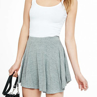 Gray Space Dye High Waisted Soft Skort from EXPRESS