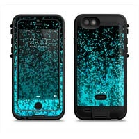 The Black and Turquoise Unfocused Sparkle Print Apple iPhone 6/6s LifeProof Fre POWER Case Skin Set