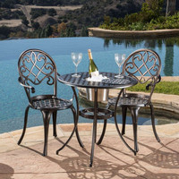 Outdoor Bistro Furniture Set Christopher Knight Patio Table Bar
