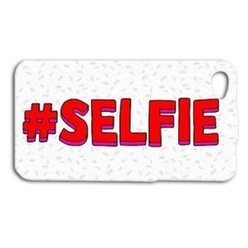 Funny SELFIE Red White Cute Hashtag Cool Phone Case iPhone Pic Cover Fun Girly
