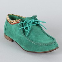 Breckelle Sandy-23 Lace Up Round Toe Flat