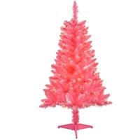 4' Pre-Lit Pink Tinsel Artificial Christmas Tree, Clear Lights - Walmart.com