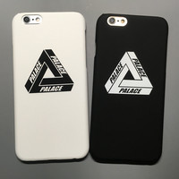 Palace for iphone 5 5s SE 6 6s 7 plus Palace Case Brand New Popular Logo Luxury Matte Plastic Hard Phone Case Cover Coque Fundas