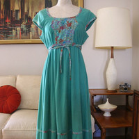 Jody of California Floral Prairie Dress BOHO Dress S/M Fashion Dress 1970s Vintage from The Back Part of the Basement