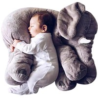Colorful Giant Elephant Stuffed Animal + Nursing Pillow