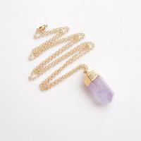 Purple Quartz Necklace - OOAK Jewelry